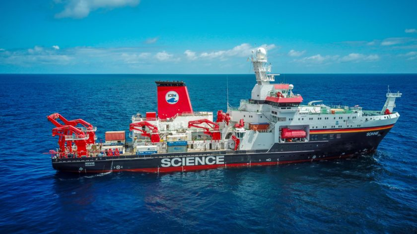 Research vessel SONNE at sea