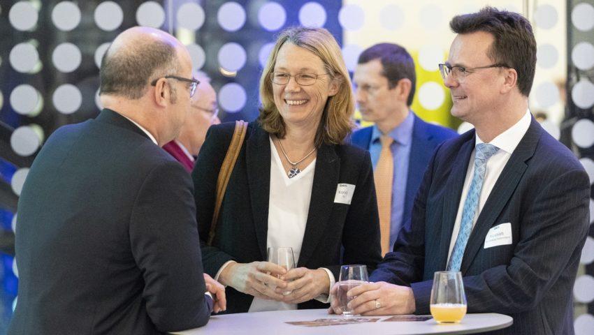 Susanne Korich, Holger Wandsleb und Michael Bruno Klein bei der Auftaktveranstaltung der Deutschen Allianz Meeresforschung DAM