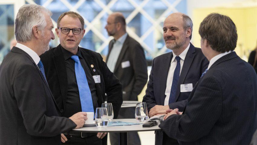 Bernd Brügge, Amund Måge, Stefan Fritz und Ed Hill bei der Auftaktveranstaltung der Deutschen Allianz Meeresforschung DAM