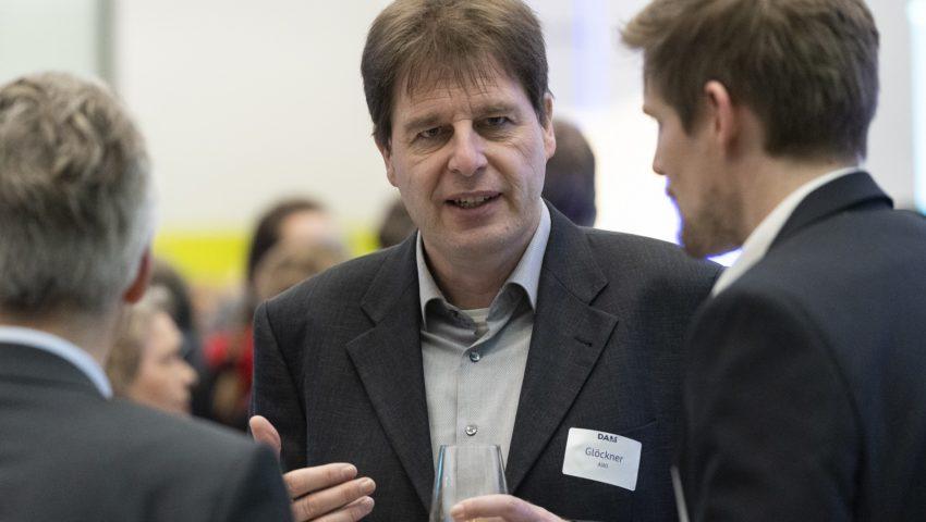 Frank Oliver Glöckner und Gauvain Wiemer bei der Auftaktveranstaltung der Deutschen Allianz Meeresforschung DAM