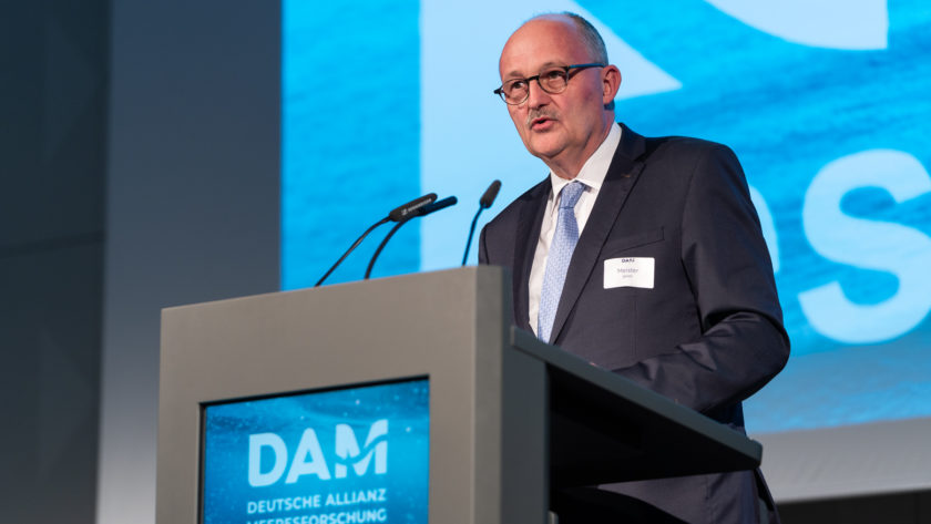 Michael Meister at the German Alliance for Marine Research DAM