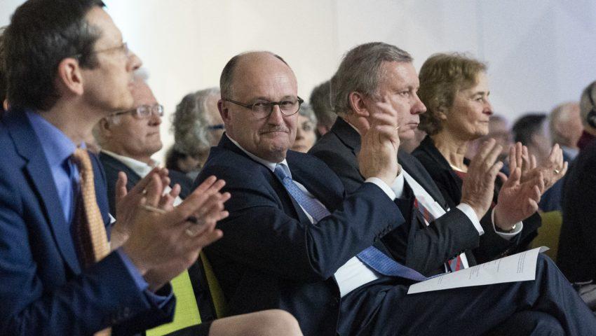 Michael Schulz, Michael Meister, Norbert Brackmann und Karin Lochte bei der Auftaktveranstaltung der Deutschen Allianz Meeresforschung DAM