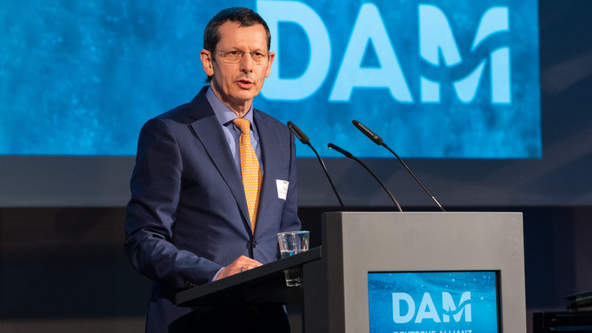 Michael Schulz at the opening event of the DAM
