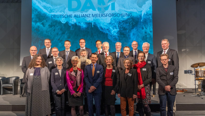 Representatives of the German Marine Research Alliance DAM