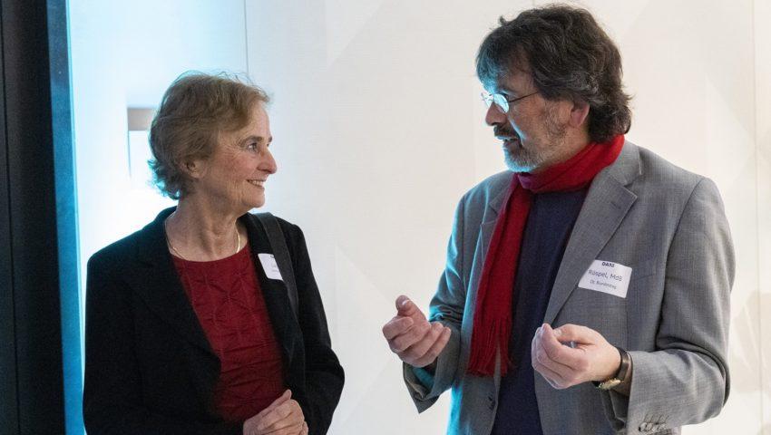 Karin Lochte und René Röspel bei der Auftaktveranstaltung der Deutschen Allianz Meeresforschung DAM