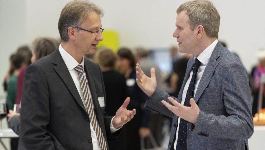 Oliver Bens und Stefan Schwartze bei der Auftaktveranstaltung der Deutschen Allianz Meeresforschung DAM