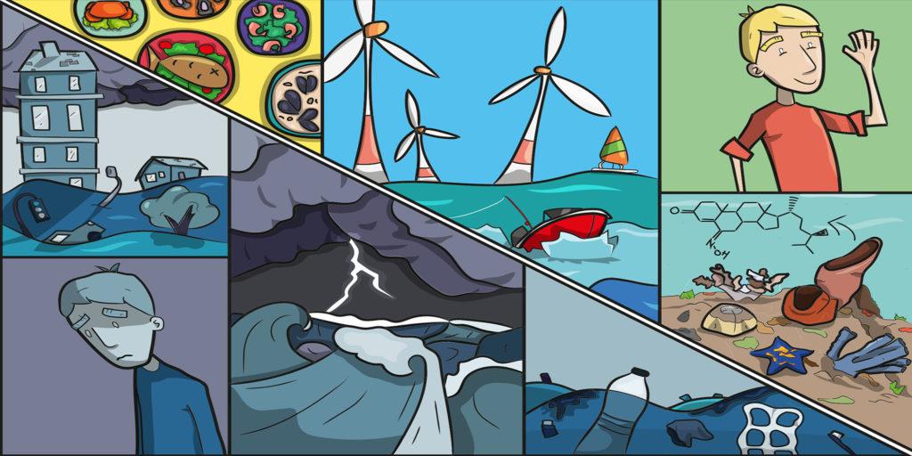 Illustration zu Ozeane und menschliche Gesundheit. European Marine Board