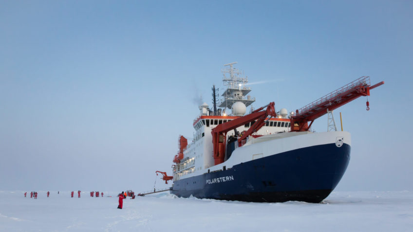 40 years AWI Center for Polar and Marine Research. The Polarstern on the MOSAiC floe in the Central Arctic