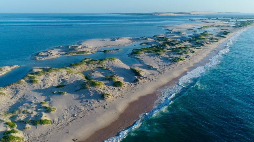 The Bazaruto Archipelago in the Indian Ocean