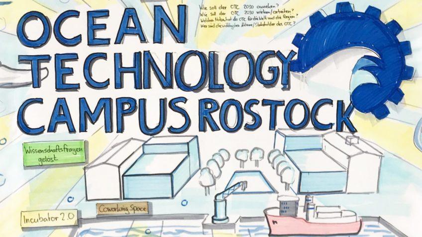 Schriftzug des Ocean Technology Campus Rostock
