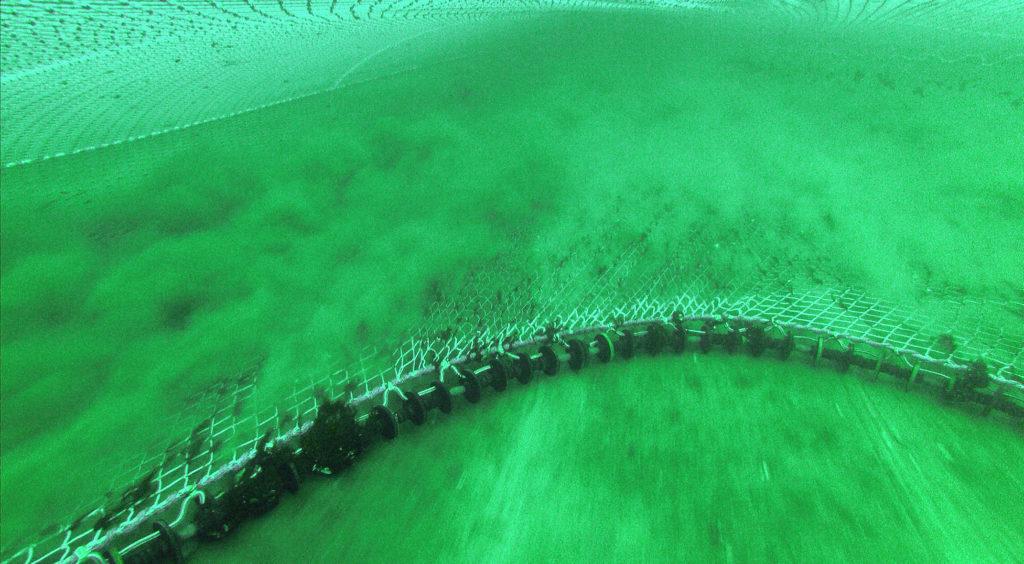 Fischerei mit Grundschleppnetzen - hier das dazugehörige Grundtau beim Einsatz - kann zu starken physischen Schäden am Meeresboden führen.