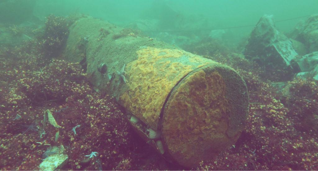 Munitionsaltlasten am Boden der Ostsee